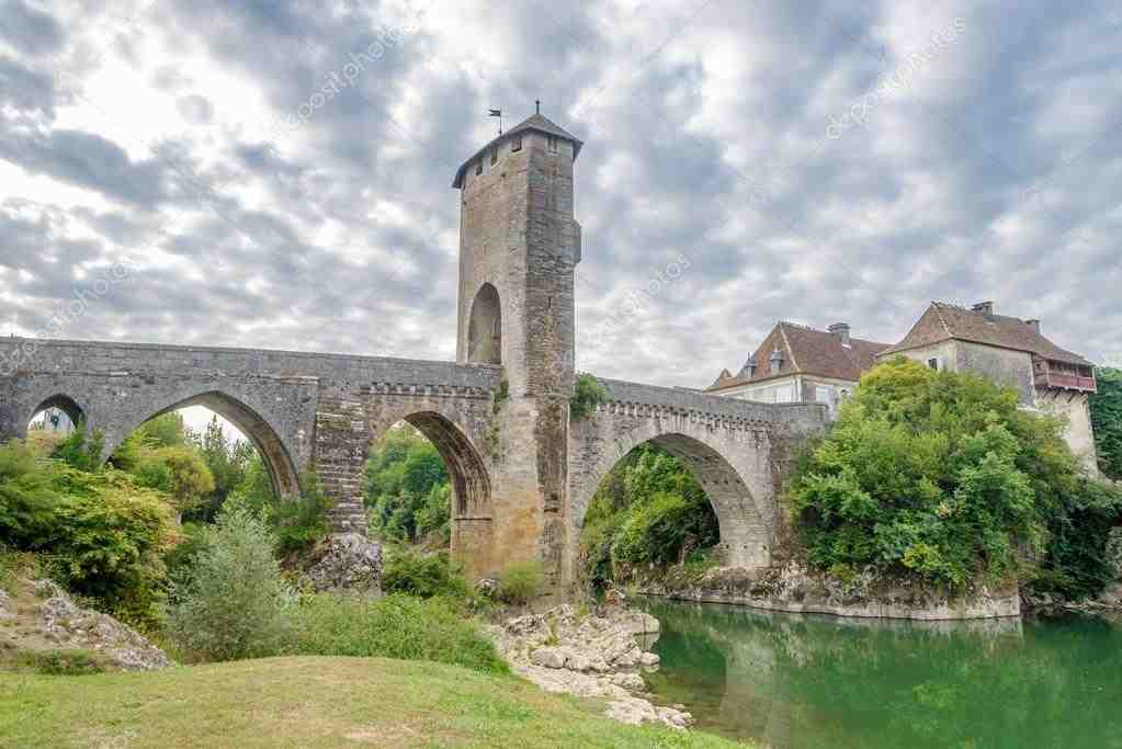 stock, photo, orthez, bridge